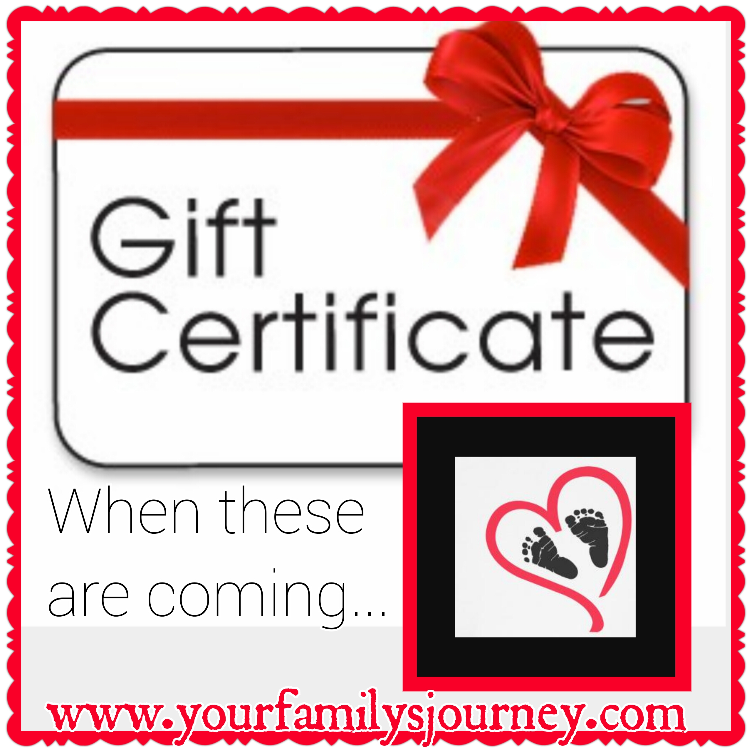 Gift certificates for Postpartum support
